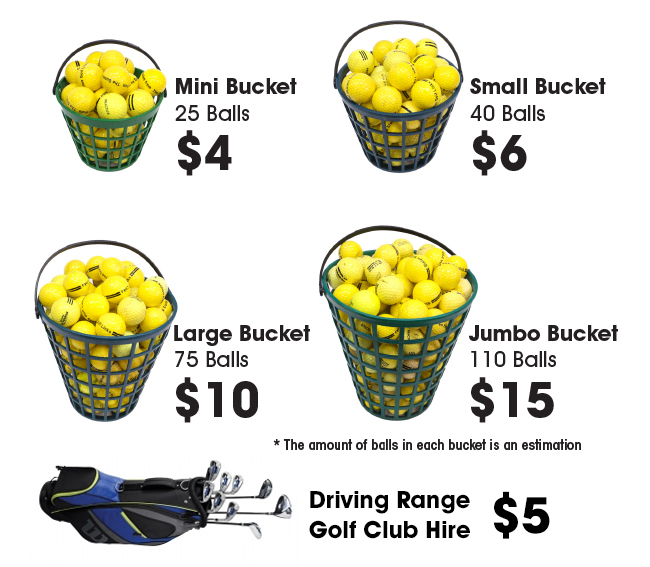 Driving range prices